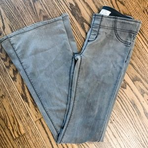 Free People Gray High Rise Flare Jeans 25
